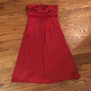 Banana Republic // Red Silk Cocktail Dress // Sz 2